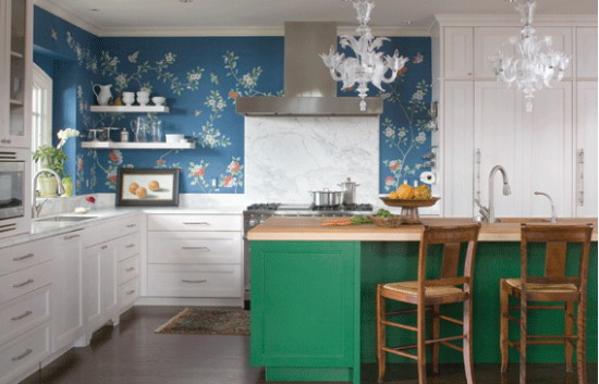 chinoiserie wallpaper panels