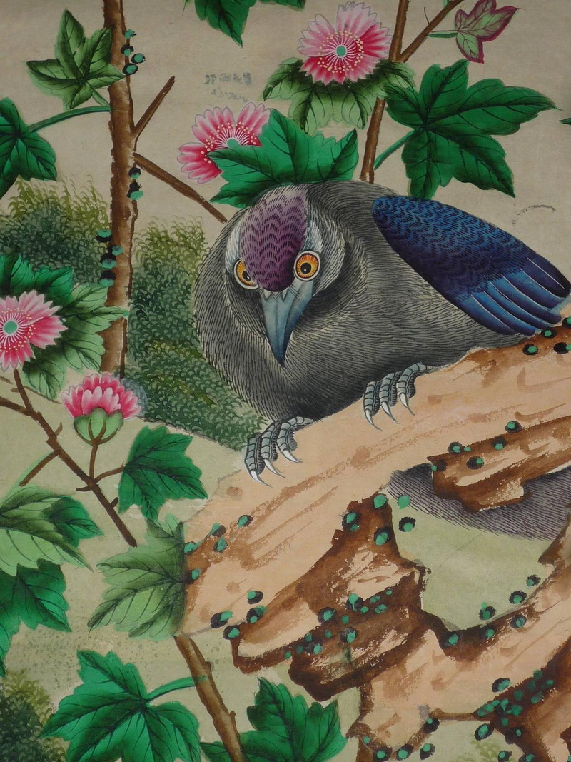 Hand Painted Wallpaper Chinoiserie Wallpaper Silk Wallpaper Chinese Wallpaper Hand