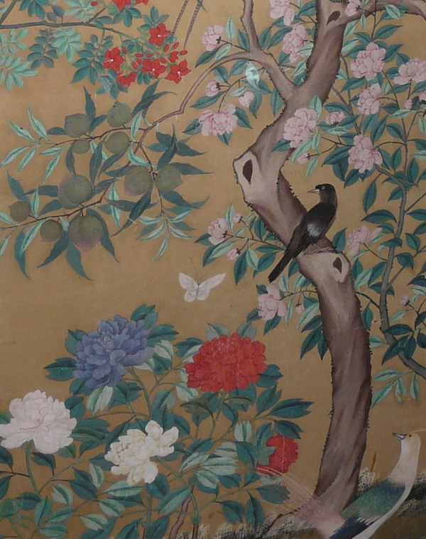 Chinese wallpaper chinoiserie wallpaper silk for Chinese wallpaper mural