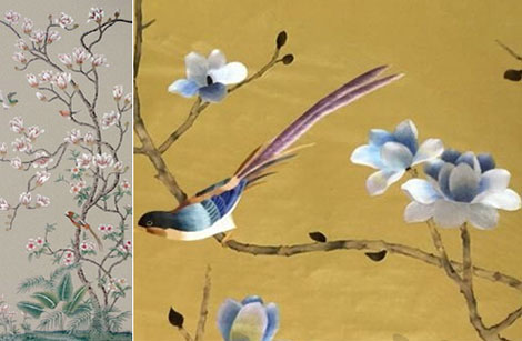 Hand painted wallpaper chinoiserie wallpaper silk wallpaper nsr bf 904 nsr bf 900 mightylinksfo