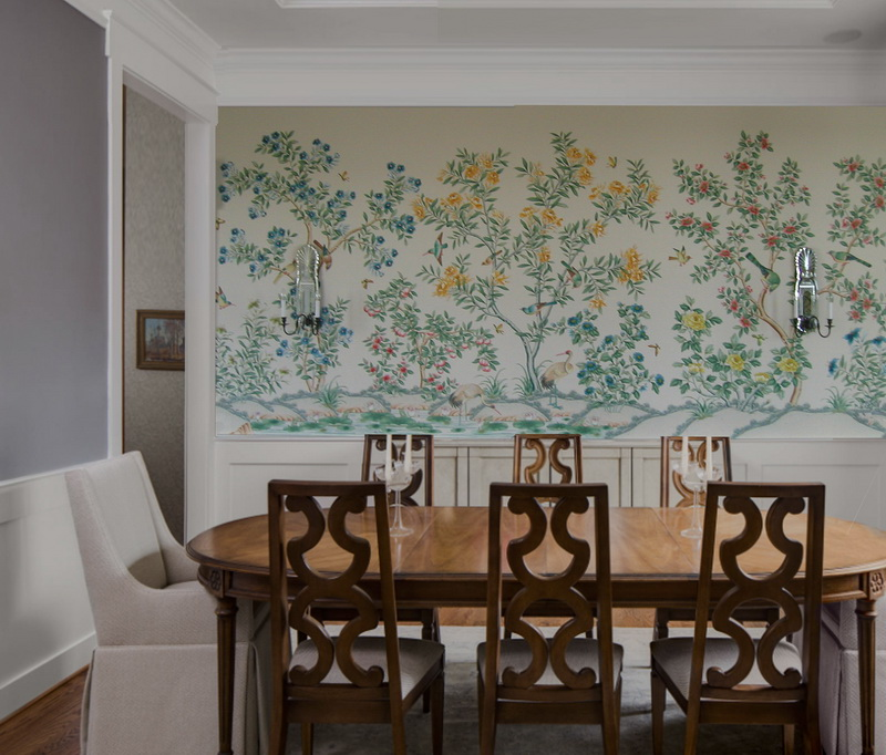 Chinoiserie Wallpaper NSR WP AF 005