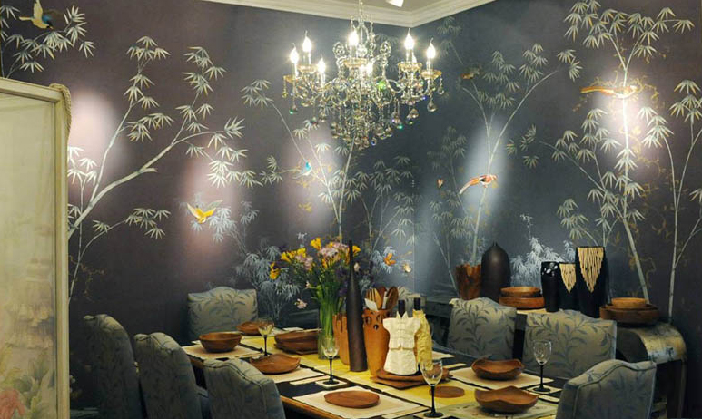 Hand painted wallpaper chinoiserie wallpaper silk wallpaper chinese wallpaper hand painted silk wallpaper hand painted chinese wallpaper